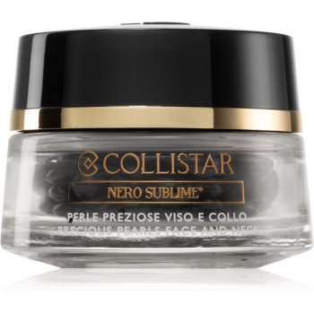 Collistar Nero Sublime® Precious Pearls Face and Neck capsule cu serum facial imagine 2021 notino.ro