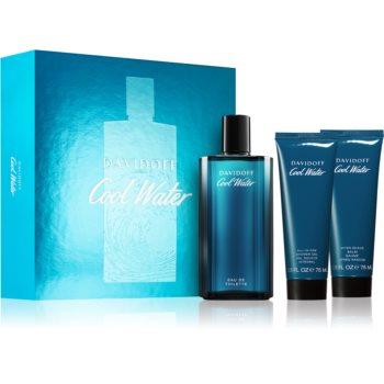Davidoff Cool Water toaletní voda 125 ml + parfémovaný sprchový gel 75 ml + balzám po holení 75 ml