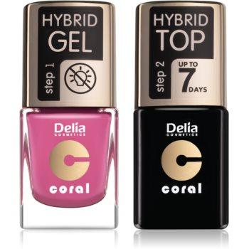 Delia Cosmetics Coral Nail Enamel Hybrid Gel set de cosmetice notino.ro