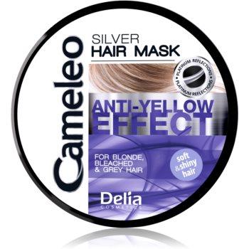Delia Cosmetics Cameleo Silver Masca de par neutralizeaza tonurile de galben imagine 2021 notino.ro