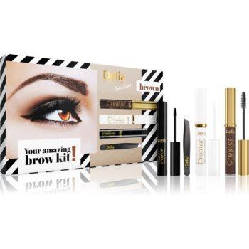Delia Cosmetics Eyebrow Expert Brown set cadou IV. (pentru sprancene) pentru femei notino.ro
