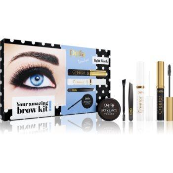 Delia Cosmetics Eyebrow Expert Light Black set cadou pentru sprancene imagine 2021 notino.ro