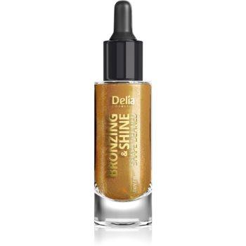 Delia Cosmetics Bronzing & Shine Shape Defined ulei pentru stralucire pentru fata si corp imagine 2021 notino.ro
