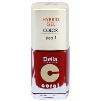 Delia Cosmetics Coral Nail Enamel Hybrid Gel lac de unghii sub forma de gel image0
