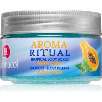 Dermacol Aroma Ritual Papaya & Mint gel de dus exfoliant notino.ro