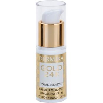 Dermika Gold 24k Total Benefit crema lux de intinerire zona ochilor notino.ro