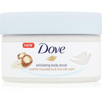 Dove Exfoliating Body Scrub Crushed Macadamia & Rice Milk Exfoliant hrănitor pentru corp notino.ro