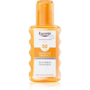 Eucerin Sun Sensitive Protect spray protector pentru plajă SPF 50 notino.ro
