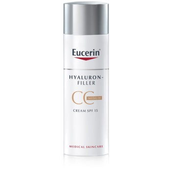 Eucerin Hyaluron-Filler CC krém proti hlubokým vráskám SPF 15 odstín Medium Dark 50 ml