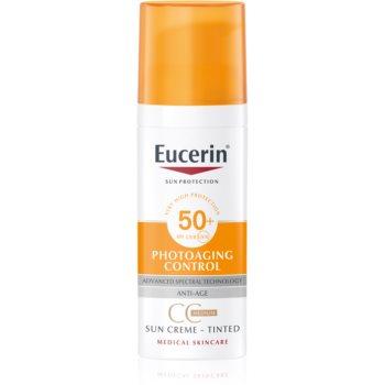 Eucerin Sun Photoaging Control cremă CC pentru bronzat SPF 50+ imagine 2021 notino.ro