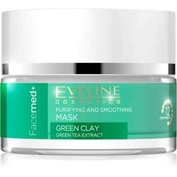 Eveline Cosmetics FaceMed+ masca de curatare si netezire cu argila verde imagine 2021 notino.ro