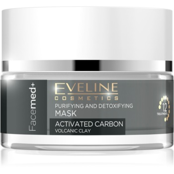 Eveline Cosmetics FaceMed+ mască activă și detoxifiantă cu carbon activ imagine 2021 notino.ro