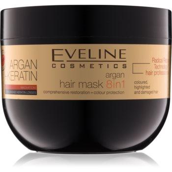 Eveline Cosmetics Argan + Keratin Masca de par cu keratina si ulei de argan imagine 2021 notino.ro