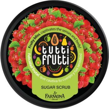 Farmona Tutti Frutti Wild Strawberry peeling corporal cu zahar notino.ro