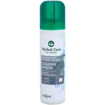 Farmona Herbal Care Black Mint deodorant spray pentru picioare si pantofi imagine 2021 notino.ro
