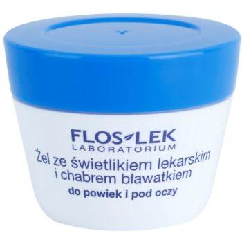 FlosLek Laboratorium Eye Care Gel pentru jurul ochilor cu un luminator și albastrele notino.ro