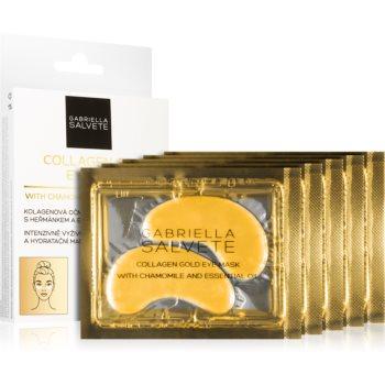 Gabriella Salvete Face Mask Collagen Gold Masca pentru ochi pentru reducerea cearcanelor cu colagen image0