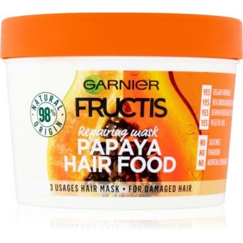 Garnier Fructis Papaya Hair Food mască regeneratoare pentru părul deteriorat imagine 2021 notino.ro