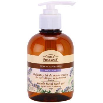 Green Pharmacy Face Care Sage gel de curățare delicat pentru pielea predispusa la iritatii notino.ro