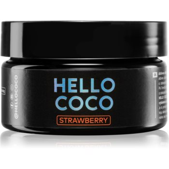 Hello Coco Strawberry cărbune activ pentru albirea dinților imagine 2021 notino.ro