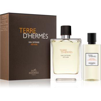 Hermès Terre d'Hermès Eau Intense Vétiver parfémovaná voda 100 ml + sprchový gel na tělo a vlasy 80 ml