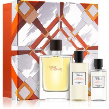 Hermès Terre d'Hermès Eau Intense Vétiver parfémovaná voda 100 ml + sprchový gel na tělo a vlasy 80 ml + voda po holení 40 ml