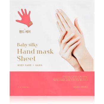 Holika Holika Baby Silky Hand manusi pentru tratament imagine 2021 notino.ro