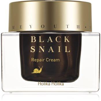 Holika Holika Prime Youth Black Snail crema nutritiva pentru reparare extract de melc notino poza