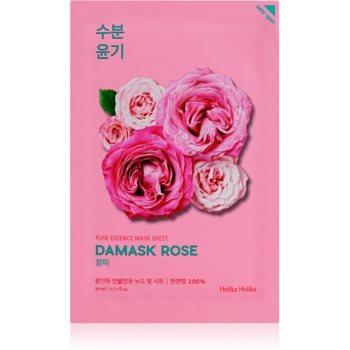 Holika Holika Pure Essence Damask Rose Masca hidratanta cu efect revitalizant sub forma de foaie imagine 2021 notino.ro