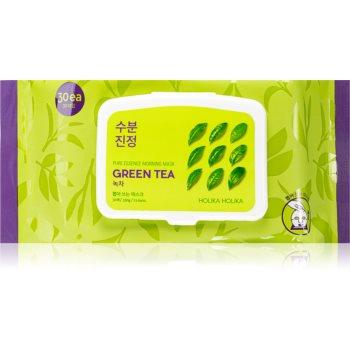 Holika Holika Pure Essence Green Tea mască înviorătoare pentru dimineață cu extracte de ceai verde notino.ro
