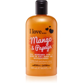 I love... Mango & Papaya cremă de duș și baie imagine 2021 notino.ro