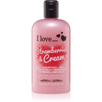 I love... Strawberries & Cream cremă de duș și baie imagine 2021 notino.ro