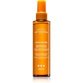 Institut Esthederm Sun Care Protective Sun Care Oil For Body And Hair ulei cu protectie solara pentru piele si par cu o protectie UV ridicata notino poza