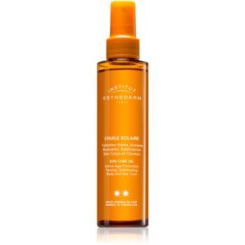 Institut Esthederm Sun Care ulei cu protectie solara pentru piele si par protectie medie impotriva razelor UV notino poza