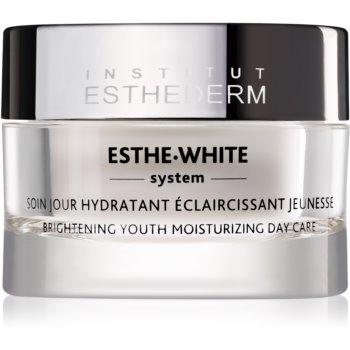 Institut Esthederm Esthe White Brightening Youth Moisturizing Day Care tratament zilnic de reîntinerire pentru o piele hidratată și strălucitoare notino.ro