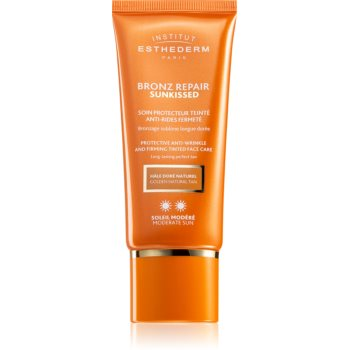 Institut Esthederm Bronz Repair Sunkissed Protective Anti-Wrinkle And Firming Tinted Face Care crema de protectie solara nuantatoare antirid notino poza