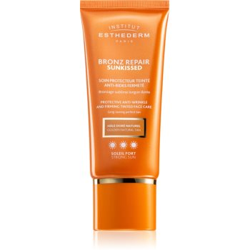Institut Esthederm Bronz Repair Sunkissed Protective Anti-Wrinkle And Firming Tinted Face Care crema protectoare cu efect de tonifiere antirid notino poza