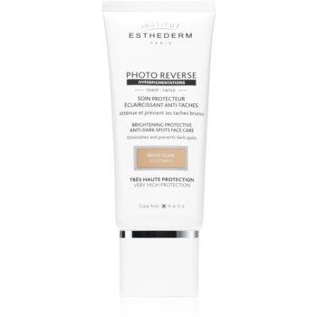 Institut Esthederm Photo Reverse Brightening Protective Anti-Dark Spots Face Care crème de protectie anti-acnee cu o protectie UV ridicata notino poza