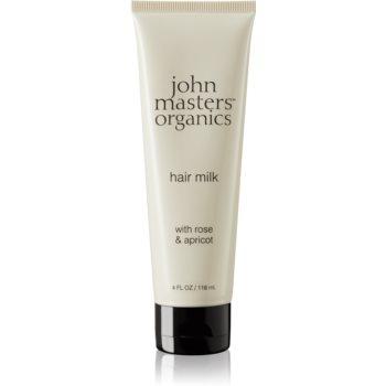 John Masters Organics Rose & Apricot lapte pentru par ce nu necesita clatire pentru varfuri deteriorate imagine 2021 notino.ro