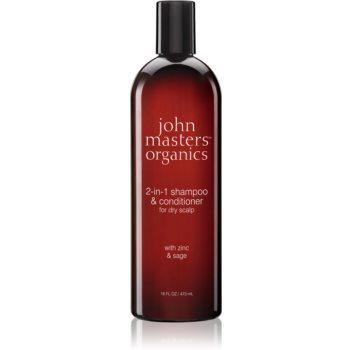 John Masters Organics Zinc & Sage sampon si balsam 2 in 1 imagine 2021 notino.ro