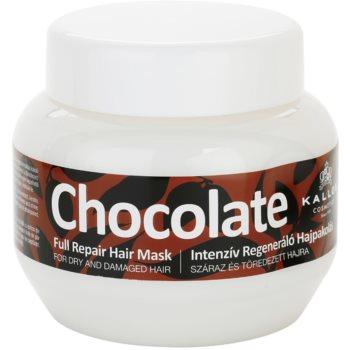 Kallos Chocolate masca pentru regenerare pentru păr uscat și deteriorat