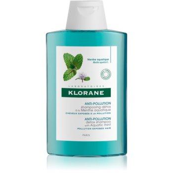 Klorane Aquatic Mint șampon detoxifiant pentru curățare pentru păr expus la poluare imagine 2021 notino.ro