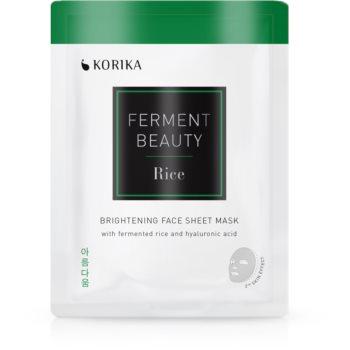 KORIKA FermentBeauty mască facială de pânză cu efect iluminator, cu orez fermentat și acid hialuronic imagine 2021 notino.ro
