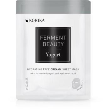 KORIKA FermentBeauty mască facială de pânză cu efect hidratant, cu iaurt fermentat și acid hialuronic imagine 2021 notino.ro