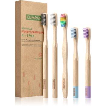 KUMPAN AS06 Periuta de dinti de bambus set cadou image0