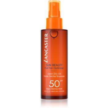 Lancaster Sun Beauty Satin Dry Oil Spray de ulei uscat de bronzat SPF 50 notino.ro