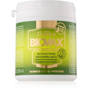 L'biotica Biovax Bamboo & Avocado Oil masca pentru regenerare pentru păr notino.ro