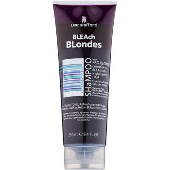 Lee Stafford Bleach Blondes șampon pentru păr blond neutralizeaza tonurile de galben imagine 2021 notino.ro