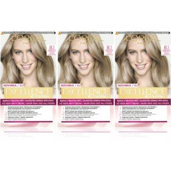 L'Oréal Paris Excellence Creme culoare par 8.1 Ash Blonde culoare imagine 2021 notino.ro