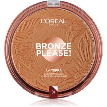 L'Oréal Paris Wake Up & Glow La Terra Bronze Please! bronzer și pudră pentru contur imagine 2021 notino.ro